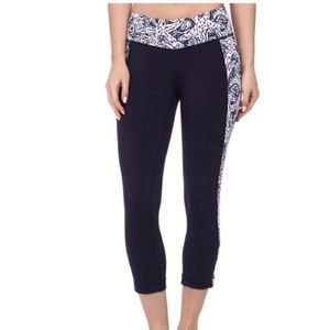 Nwt Lilly Pulitzer weekender crop pant navy xs